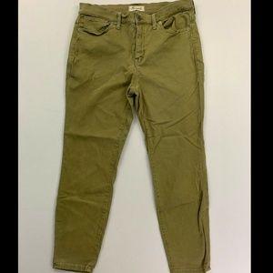 "Madewell Green 9"" High Riser Skinny Crop Jeans 31"